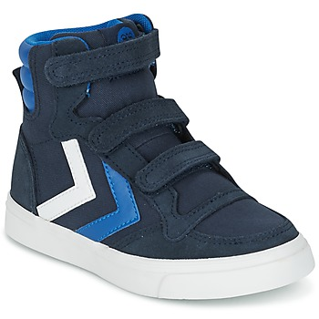 Shoes Children Hi top trainers Hummel STADIL CANVAS HIGH JR MARINE