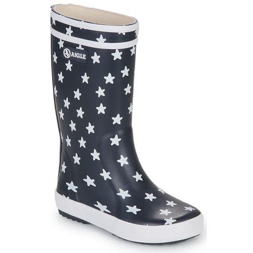 Shoes Girl Wellington boots Aigle LOLLY POP PRINT Marine / Multicoloured