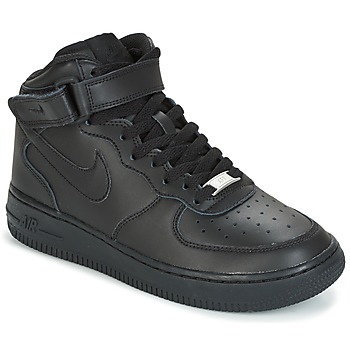 Shoes Children Low top trainers Nike AIR FORCE 1 MID 06 JUNIOR Black