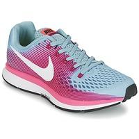 Shoes Women Running shoes Nike AIR ZOOM PEGASUS 34 Blue / Fuschia