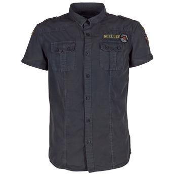 Clothing Men short-sleeved shirts Deeluxe BURTY Grey