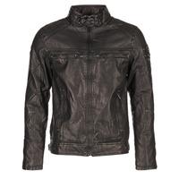 Clothing Men Leather jackets / Imitation leather Deeluxe SPANGLE Black