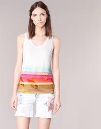 Clothing Women Tops / Sleeveless T-shirts Desigual TEDERI White