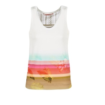 Clothing Women Tops / Sleeveless T-shirts Desigual TEDERI White