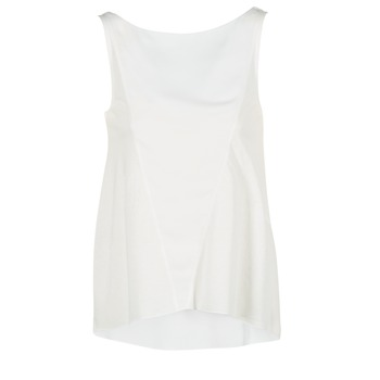 Clothing Women Tops / Sleeveless T-shirts Desigual ROMINESSA White