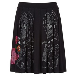 Clothing Women Skirts Desigual COMUNTE Black