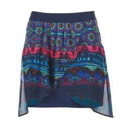 Clothing Women Skirts Desigual RASSENIO MARINE