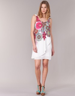 Clothing Women Short Dresses Desigual LIORASA White