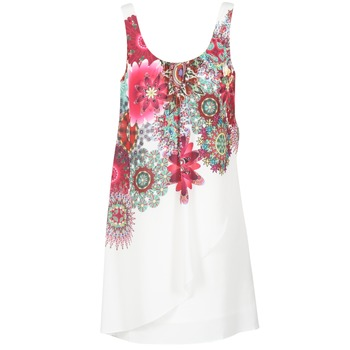 Clothing Women Short Dresses Desigual LIORASA White