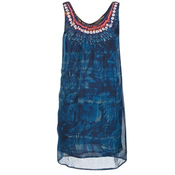 Clothing Women Short Dresses Desigual LIORISE Blue