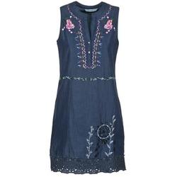 Clothing Women Short Dresses Desigual LIORASE Blue
