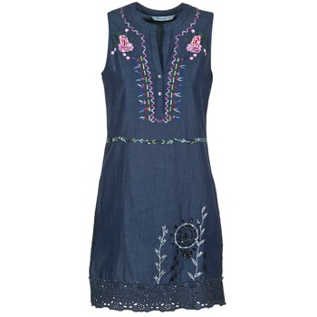 Clothing Women Short Dresses Desigual LIRASE Blue