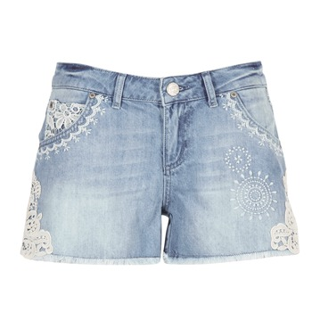 Clothing Women Shorts / Bermudas Desigual MARTES Blue