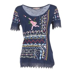 Clothing Women short-sleeved t-shirts Desigual RICOLUEO MARINE
