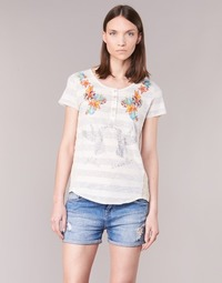 Clothing Women short-sleeved t-shirts Desigual TEDEREA White