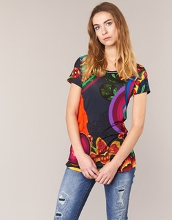 Clothing Women short-sleeved t-shirts Desigual GRIZELLO Multicoloured