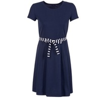 Clothing Women Short Dresses Petit Bateau FLARE MARINE