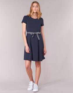 Clothing Women Short Dresses Petit Bateau FLARE Marine