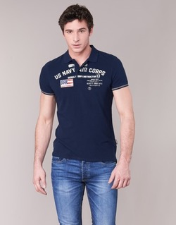 Clothing Men short-sleeved polo shirts Schott ALEC MARINE