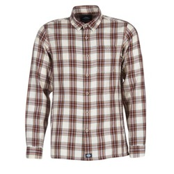 Clothing Men long-sleeved shirts Dickies HARRELL White / Brown
