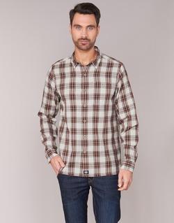 Clothing Men long-sleeved shirts Dickies HARRELL White / Brown