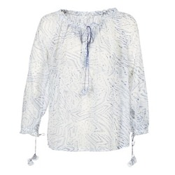 Clothing Women Tops / Blouses See U Soon 7111084 White / Blue