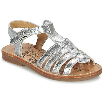 Shoes Girl Sandals Babybotte YLONA Brown / Silver