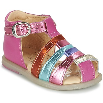 Shoes Girl Flat shoes Babybotte TIKALOU Pink / Multicoloured