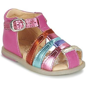 Shoes Girl Flat shoes Babybotte TIKALOU Pink / Multicoloured