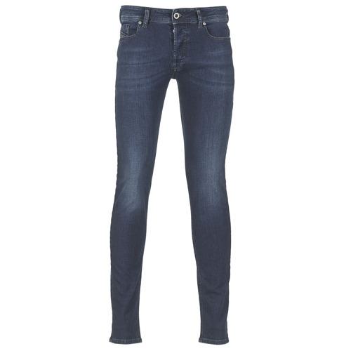 Clothing Men Slim jeans Diesel SLEENKER Blue / 0845e