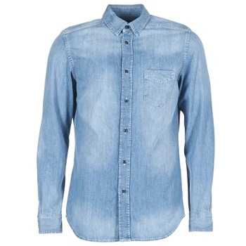 Clothing Men long-sleeved shirts Diesel D CARRY Blue
