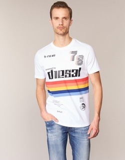 Clothing Men short-sleeved t-shirts Diesel T JOE OB White