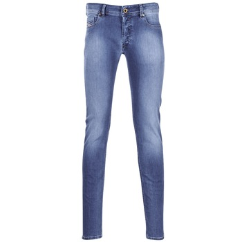 Clothing Men slim jeans Diesel SLEENKER Blue / 0681n