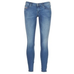 Clothing Women Skinny jeans Diesel SKINZEE LOW ZIP Blue
