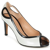 Shoes Women Heels Perlato FEJILI White / Black