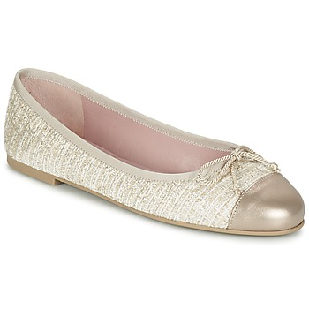 Shoes Women Flat shoes Pretty Ballerinas AMI Gold / Pink