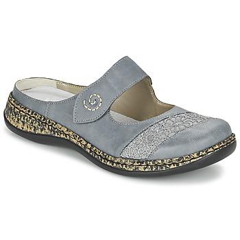 Shoes Women Mules Rieker GRILOPI Blue / Grey