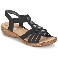 Shoes Women Sandals Rieker MECHAROLO Black