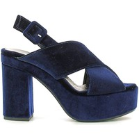 Shoes Women Sandals Grace Shoes ROMA09F9 High heeled sandals Women Blue Blue