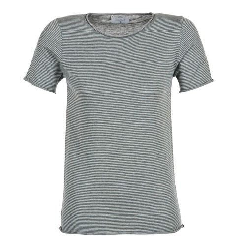Clothing Women short-sleeved t-shirts Casual Attitude GENIUS Grey