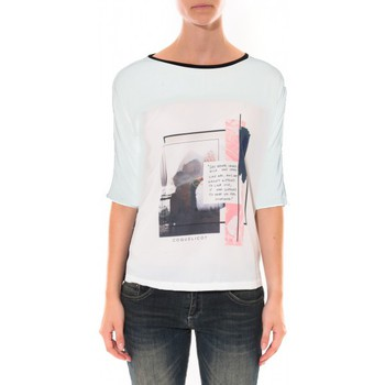 Clothing Women T-shirts & Polo shirts Coquelicot Tee shirt   Blanc 16409 White