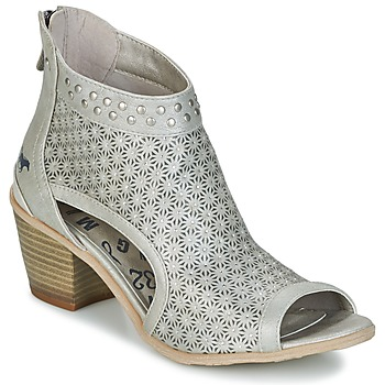 Shoes Women Ankle boots Mustang CRAIDOU Silver