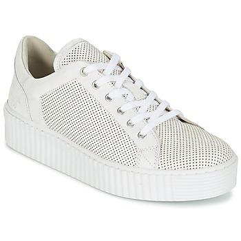 Shoes Women Low top trainers Mustang FAMO White / Broken