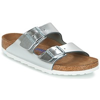 Shoes Women Mules Birkenstock ARIZONA SFB Silver