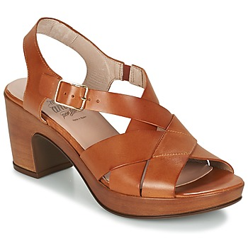 Shoes Women Sandals Wonders DRESCA COGNAC