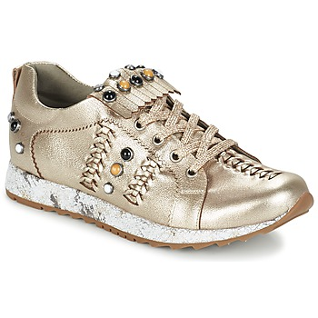 Shoes Women Low top trainers Mam'Zelle HORUS Cream / METAL
