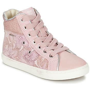 Shoes Girl Hi top trainers Geox J KIWI G. H Pink