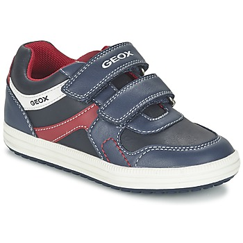 Shoes Boy Low top trainers Geox J VITA A NAVY / RED