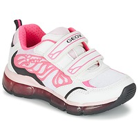 Shoes Girl Low top trainers Geox J ANDROID G. A White / Pink