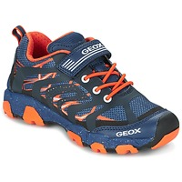 Shoes Boy Low top trainers Geox J MAGNETAR B. A MARINE / Orange